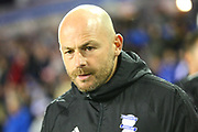 Birmingham Caretaker Manager Lee Carsley during the EFL Sky Bet Championship match between Birmingham City and Sheffield Wednesday at St Andrews, Birmingham, England on 27 September 2017. Photo by John Potts.