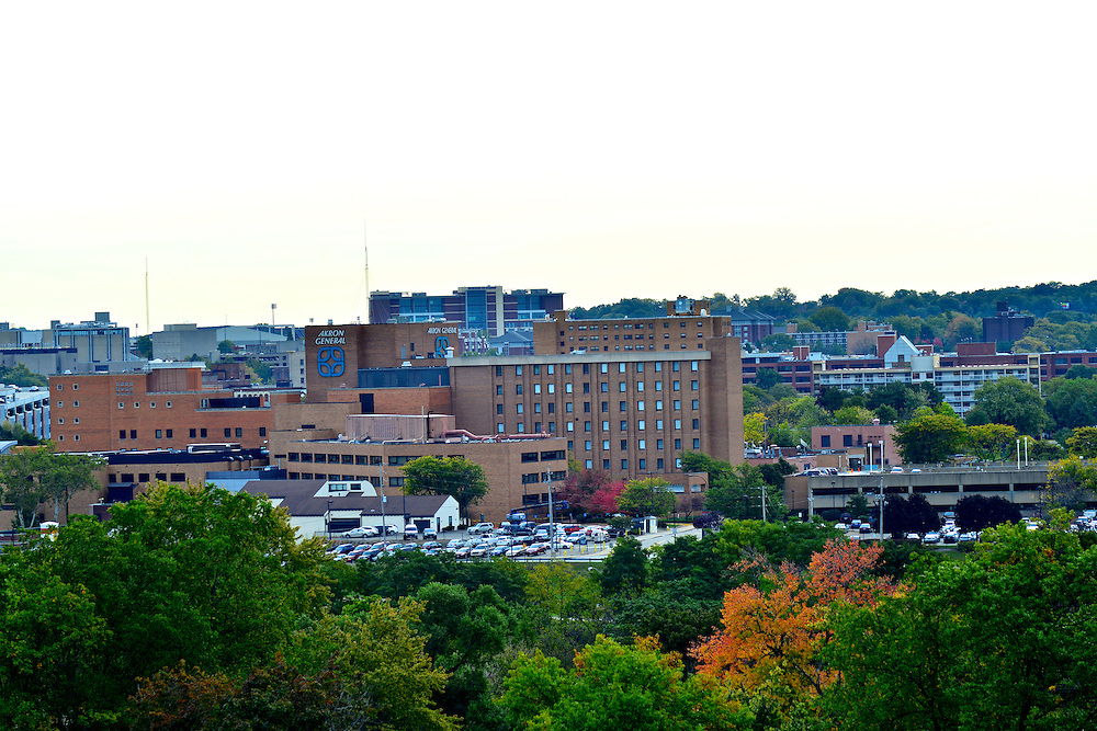 Cityscape view of Akron General Medical Center.