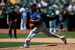 OAKLAND, CA - JULY 28:  Jesse Chavez #53 of the Texas Rangers pitches against the Oakland Athletics during the sixth inning at the RingCentral Coliseum on July 28, 2019 in Oakland, California. The Oakland Athletics defeated the Texas Rangers 6-5. (Photo by Jason O. Watson/Getty Images) *** Local Caption *** Jesse Chavez