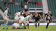Twickenham, United Kingdom. Luydia THORN passes the ball, during the 2015 Women's Varsity Match, Oxford vs Cambridge, RFU Twickenham Stadium, England.<br /> <br /> Thursday  10/12/2015<br /> <br /> [Mandatory Credit. Peter SPURRIER/Intersport Images].
