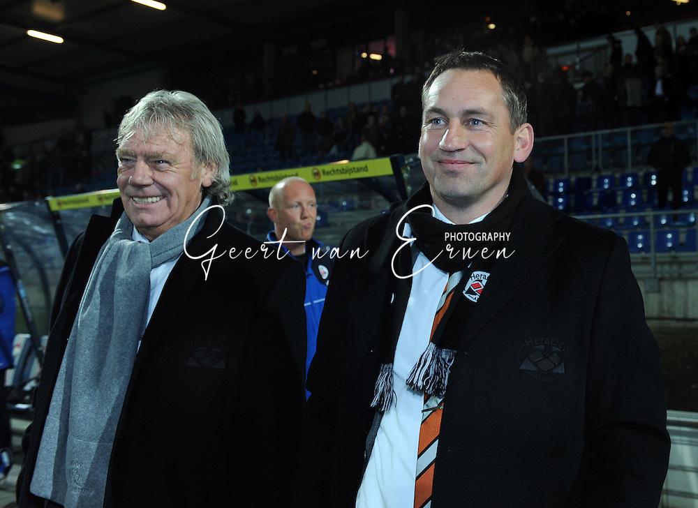 28-02-2009 Voetbal:Willem II:Heracles Almelo:Tilburg<br /> Nuchter glimlacht Gert Heerkes na de overwinning in Tilburg<br /> Foto: Geert van Erven