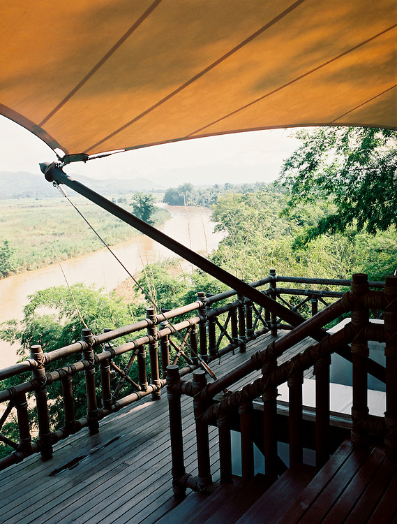 A tented bungalow at the Four Seasons Golden Triangle resort