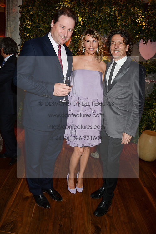 Left to right, JO THORNTON and STEPHEN & ASSIA WEBSTER at the Dom Perignon Rose 2002 Dark Jewel launch with Stephen Webster held at The Connaught Hotel, London on 12th June 2013.