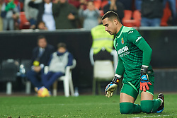 January 26, 2019 - Valencia, Valencia, Spain - Sergio Asenjo of Villarreal CF reacts during the La Liga Santander match between Valencia and Villarreal at Mestalla Stadium on Jenuary 26, 2019 in Valencia, Spain. (Credit Image: © Maria Jose Segovia/NurPhoto via ZUMA Press)