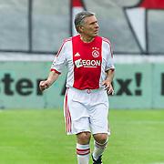 Amsterdam, 03-07-2013. Oud-Ajaxied Sjaak Swart wordt 75 jaar en krijgt een jubileumwedstrijd in het Olympisch Stadion te Amsterdam. Vele oud-Ajax gedienden waren uitgenodigd. Mr. Ajax - Sjaak Swart maakte deel uit van oud-Ajax elftal. Foto: Sjaak Swart
