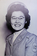 A photo of Grace Amemiya when she was in the US Cadet Nurse Corps. ..This picture was shot at Collegiate Presbyterian Church, 159 Sheldon Ave, in Ames, Iowa on Thursday, March 29, 2012. (Stephen Mally/Freelance)