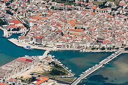 21.06.2015, Pag, CRO, Insel Pag, Die kroatische Insel Pag befindet sich an der Adria-K&uuml;ste n&ouml;rdlich von Zadar in Norddalmatien. Pag hat eine L&auml;nge von 58,25 km und ist mit 284,18 Quadratkilometern der Fl&auml;che nach die f&uuml;nftgr&ouml;&szlig;te Insel der Adria, im Bild Pag is the largest town on the island of Pag. // The Croatian island of Pag is located on the Adriatic coast north of Zadar in northern Dalmatia. Pag has a length of 58.25 km and is 284.18 square kilometers of the area after the fifth largest island in the Adriatic, pitured on 13. June in Pag, Croatia on 2015/06/21. EXPA Pictures &copy; 2015, PhotoCredit: EXPA/ Pixsell/ Dino Stanin<br /> <br /> *****ATTENTION - for AUT, SLO, SUI, SWE, ITA, FRA only*****