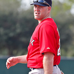 February 17, 2011; Fort Myers, FL, USA; third baseman Kevin Youkilis during spring training at the Player Development Complex.  Mandatory Credit: Derick E. Hingle