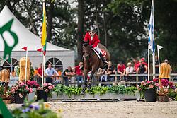 Pieyre Léon, SUI, Cheyenne 111 Z<br /> European Jumping Championship Children<br /> Zuidwolde 2019<br /> © Hippo Foto - Dirk Caremans<br /> Pieyre Léon, SUI, Cheyenne 111 Z