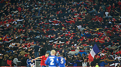 LILLE, FRANCE - Thursday, October 23, 2014: Lille OSC supporters during the UEFA Europa League Group H match against Everton at Stade Pierre-Mauroy. (Pic by David Rawcliffe/Propaganda)