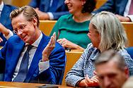 DEN HAAG - VVD-Kamerlid Han ten Broeke tijdens zijn afscheid in de Tweede Kamer. Het prominente Kamerlid stapt op vanwege een relatie met een medewerkster van de fractie van de partij. ROBIN UTRECHT