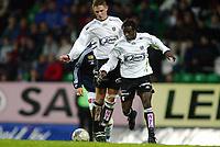 Fotball, 22. september 2003, Tippeligaen,  Sogndal-Viking 2-2,   Ousman Nyan og Rune Bolseth, Sogndal