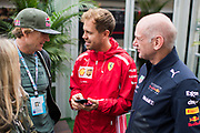 October 18-21, 2018: United States Grand Prix. Sebastian Vettel (GER), Scuderia Ferrari, SF71H,  Adrien Newey, Red Bull Racing designer