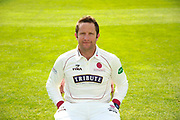 County Championship kit portrait of Roelof van der Merwe during the Somerset County Cricket Club PhotoCall 2017 at the Cooper Associates County Ground, Taunton, United Kingdom on 5 April 2017. Photo by Graham Hunt.