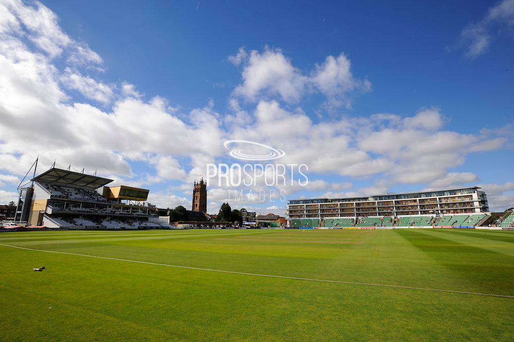 The Cooper Associates County Ground on a sunny morning before the 4th days play in the Specsavers County Champ Div 1 match between Somerset County Cricket Club and Hampshire County Cricket Club at the Cooper Associates County Ground, Taunton, United Kingdom on 26 August 2016. Photo by Graham Hunt.