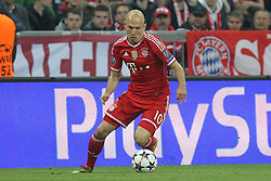 09-04-2014 GER: UEFA CL FC Bayern Munchen - Manchester United, Munchen<br /> Arjen Robben #10 (FC Bayern Muenchen) // during the UEFA Champions League Round of 8, 2nd Leg match  <br /> **** NETHERLANDS ONLY ****