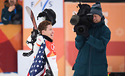PYEONGCHANG-GUN, SOUTH KOREA - FEBRUARY 14: Shaun White of USA reacts during the Mens Snowboard Halfpipe competition at Phoenix Snow Park on February 14, 2018 in Pyeongchang-gun, South Korea. Photo by Nils Petter Nilsson/Ombrello               ***BETALBILD***