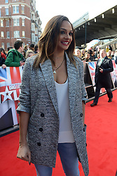 Britain's Got Talent. Alesha Dixon arrives to Britain's Got Talent at Hammersmith Apollo. Hammersmith Apollo, London, United Kingdom. Tuesday, 11th February 2014. Picture by Peter Kollanyi / i-Images