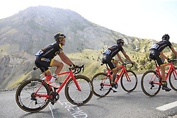 Romain Sicard, Sylvain Chavanel and Thomas Voeckler (FRA) Direct Energie climb Col d'Izoard during Stage 18 of the 104th edition of the Tour de France 2017, running 179.5km from Briancon to the summit of Col d'Izoard, France. 20th July 2017.<br /> Picture: Eoin Clarke | Cyclefile<br /> <br /> All photos usage must carry mandatory copyright credit (© Cyclefile | Eoin Clarke)