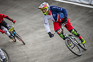 #234 during practice at the 2018 UCI BMX World Championships in Baku, Azerbaijan.