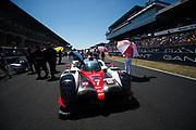 June 13-18, 2017. 24 hours of Le Mans. 7 Toyota Racing, Toyota TS050 Hybrid, Mike Conway, Kamui Kobayashi, Stephane Sarrazin