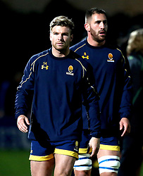 Andy Short of Worcester Warriors and Matt Cox of Worcester Warriors - Mandatory by-line: Robbie Stephenson/JMP - 04/11/2016 - RUGBY - Sixways Stadium - Worcester, England - Worcester Warriors v Bristol Rugby - Anglo Welsh Cup
