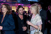SARAH WOODHEAD; JAY KAY; JO WOOD, 2009 Serpentine Gallery Summer party. Sponsored by Canvas TV. Serpentine Gallery Pavilion designed by Kazuyo Sejima and Ryue Nishizawa of SANAA. Kensington Gdns. London. 9 July 2009.