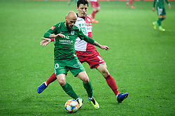 Goran Brkic, Nikola Leko during football match between NK Olimpija Ljubljana and NK Aluminij in semi final of Slovenian Cup 2018/19, on April 23, 2019 in Stozice Stadium, Ljubljana, Slovenia. Photo by Morgan Kristan