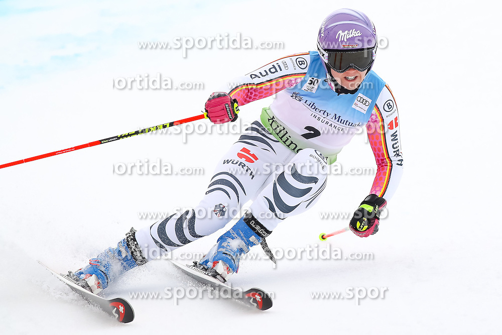 26.11.2016, Killington, USA, FIS Weltcup Ski Alpin, Killington, Riesenslalom, Damen, 1. Lauf, im Bild Viktoria Rebensburg (GER) // Viktoria Rebensburg of Germany in action during 1st run of ladies giant slalom of FIS ski alpine world cup at the Killington, Austria on 2016/11/26. EXPA Pictures &copy; 2016, PhotoCredit: EXPA/ SM<br /> <br /> *****ATTENTION - OUT of GER*****