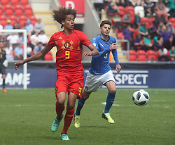 May 17, 2018 - United Kingdom - Gabriel Lemoine of Belgium Under 17 .during the UEFA Under-17 Championship Semi-Final match between Italy U17s against Belgium U17s at New York Stadium, Rotherham United FC, England on 17 May 2018. (Credit Image: © Kieran Galvin/NurPhoto via ZUMA Press)