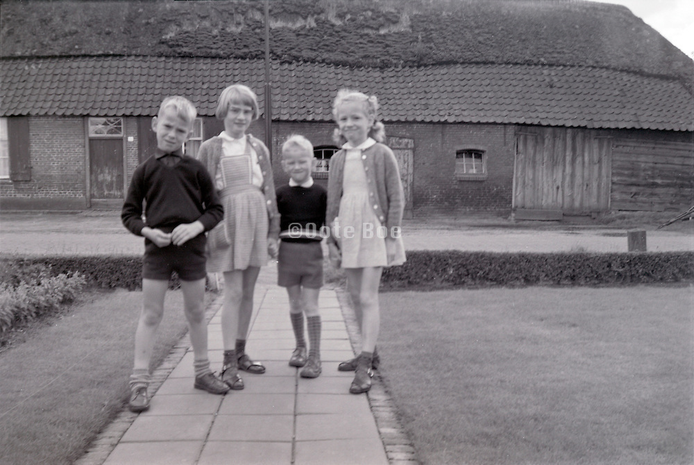 young children coming home from school 1960s Holland