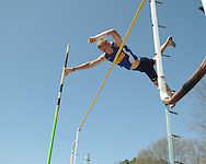 Oxford High's Sam Kendricks wins at the Oxford Eagle Relays at Oxford High School on Saturday, March 27, 2010 in Oxford, Miss.
