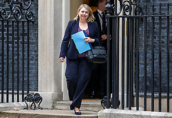 © Licensed to London News Pictures. 11/09/2018. London, UK. Secretary of State for Northern Ireland Karen Bradley leaves 10 Downing Street. Photo credit: Rob Pinney/LNP
