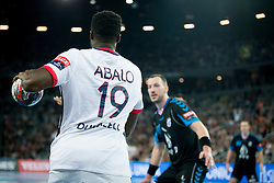 Luc Abalo #19 of Paris Sant-Germain during handball match between PPD Zagreb (CRO) and Paris Saint-Germain (FRA) in 11th Round of Group Phase of EHF Champions League 2015/16, on February 10, 2016 in Arena Zagreb, Zagreb, Croatia. Photo by Urban Urbanc / Sportida