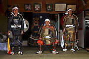 Samurai Fuku Taisho at his home while waiting for other samurai to come and present themselves to him during the Soma Nomaoi festival