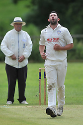 RUSHTON BOWLER JAKE HIGGINBOTTOM, RUSHTON CRICKET CLUB v OLD NORTHAMPTONIANS CC, Station Road Rushton Saturday 25th June 2016