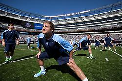 10 April 2010: North Carolina Tar Heels midfielder Matt Davie (28) before playing the Virginia Cavaliers at the New Meadowlands Stadium in the Meadowlands, NJ.
