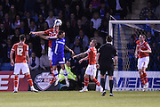 Early pressure from Gillingham during the Sky Bet League 1 match between Gillingham and Walsall at the MEMS Priestfield Stadium, Gillingham, England on 12 April 2016. Photo by Martin Cole.
