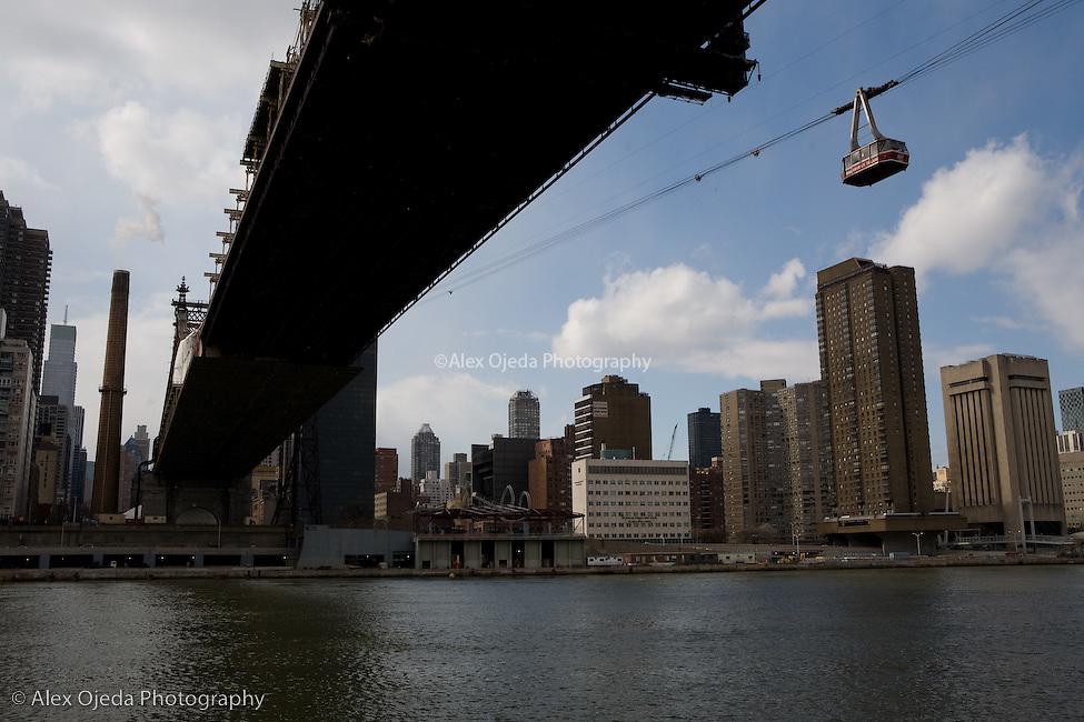 Queensboro's Bridge view from Roosevelt Island, New York