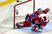 17 November 2009: Montreal Canadiens' goalie Carey Price in action during the second period against Carolina Hurricanes at the Bell Centre in Montreal, Quebec, Canada. Montreal Canadiens defeated Carolina Hurricanes 3-2 after a shootout.