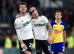 Derby County's David Nugent (left) and Derby County's Jack Marriott during the Emirates FA Cup, third round match at Pride Park, Derby.