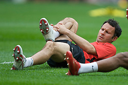 MOSCOW, RUSSIA - Tuesday, May 20, 2008: Manchester United's Ryan Giggs during training ahead of the UEFA Champions League Final against Chelsea at the Luzhniki Stadium. (Photo by David Rawcliffe/Propaganda)