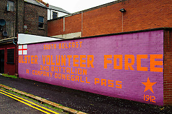Mural on house gable in Belfast, Northern Ireland<br /> <br /> (c) Andrew Wilson | Edinburgh Elite media