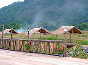 country style Laos restaurant in rural setting
