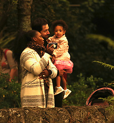 "EXCLUSIVE: Serena Williams, her husband Alexis Ohanian and their two year old daughter Alexis Olympia, along with Serena's mother Oracene Price visiting Auckland zoo in New Zealand on Sunday, January 5. It was the day Auckland was hit by smoke drifting across the Tasman sea from the Australian bush fires, turning the summer sky dark and red, which Serena and Alexis can be seen looking up at when they left their city centre hotel. Serena was forced to wrap up against unseasonably cold weather, which she complained about on her only previous visit to Auckland in 2017. Serena said before her zoo trip on Sunday that her daughter ""loves to see animals"". She had taken her to Auckland's undersea aquarium, Kelly Tarlton's, the previous day. The superstar had a face like thunder most of the afternoon and even took a long rest in her daughter's pushchair at one point, engrossed in her phone while her husband took charge of Olympia. The 38-year-old 23-time Grand Slam champion plays her first competitive match in three months on Tuesday against two-time former Australian Open winner Svetlana Kuznetsova. Pics are available immediately excluding New Zealand. 05 Jan 2020 Pictured: Serena Williams, Alexis Ohanian, Alexis Olympia. Photo credit: MEGA TheMegaAgency.com +1 888 505 6342"