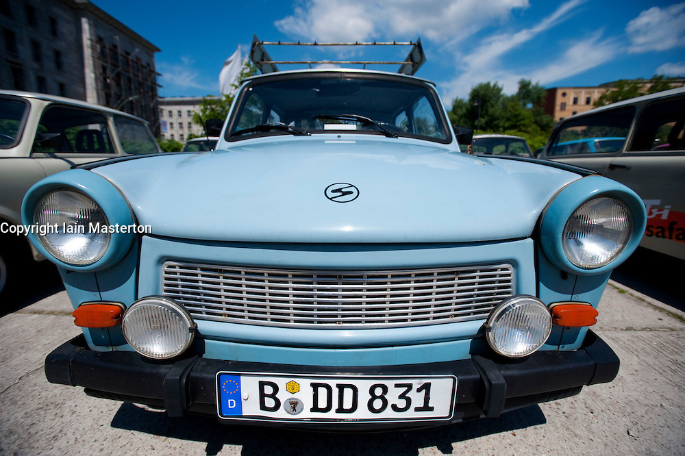 Old East German Trabant car parked in Berlin Germany