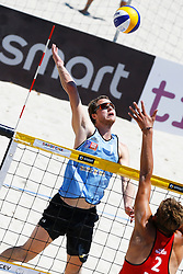 20140605 ITA: EK Beachvolleybal, Cagliari<br /> Jon Stiekema<br /> ©2014-FotoHoogendoorn.nl / Pim Waslander