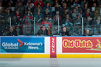 KELOWNA, CANADA - APRIL 25: Ice officials sit in the penalty box at the Kelowna Rockets against the Seattle Thunderbirds on April 25, 2017 at Prospera Place in Kelowna, British Columbia, Canada.  (Photo by Marissa Baecker/Shoot the Breeze)  *** Local Caption ***