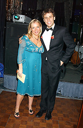EMMA SCANLON and RICHARD BACON at the Chain of Hope 10th Anniversary Ball held at The Dorchester, Park Lane, London on 1st November 2005.<br />