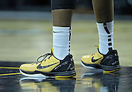 January 07, 2011: The shoes of Iowa Hawkeyes forward Melsahn Basabe (1) during the the NCAA basketball game between the Ohio State Buckeyes and the Iowa Hawkeyes at Carver-Hawkeye Arena in Iowa City, Iowa on Saturday, January 7, 2012.